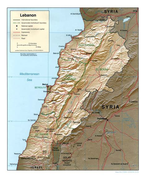 map of lebanon nationmaster maps of lebanon 21 in total