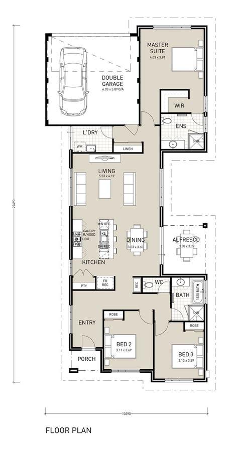 modern home plans narrow lot