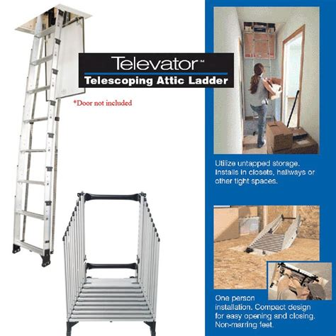 werner televator small opening attic ladder 10