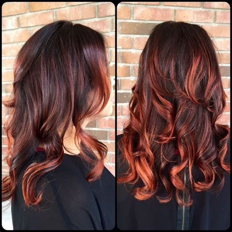 dark brown hair with copper highlights what s the best dark balayage google search hair pinterest copper