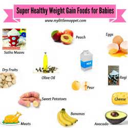 Hope this list of healthy weight gaining foods for babies goes a long