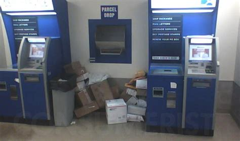 Post Office Drop by Post Office Stacks Mailed Packages On Lobby Floor