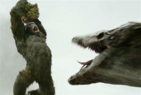 King Kong Escape From Skull Island skull crawler vs kong in new skull island fight clip