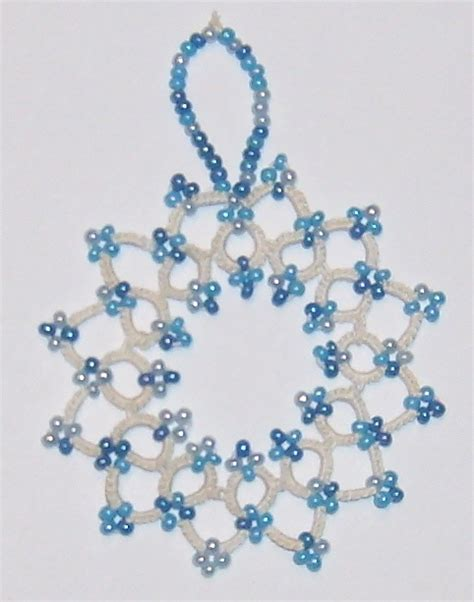 beaded snowflake the 2140 best images about crafts shuttle tatting on