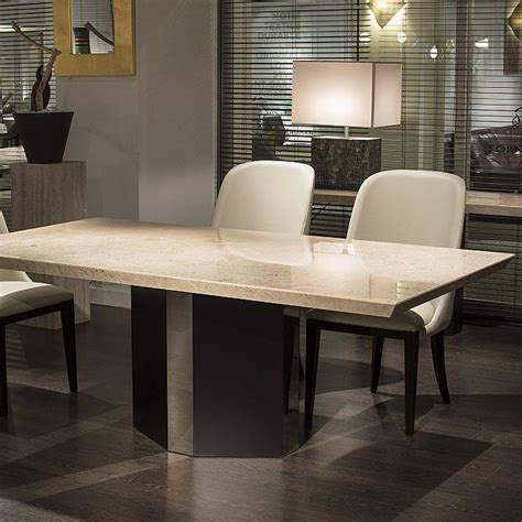 Ritz Dining Table Ritz Bevelled Tivoli Marble Dining Table Robson Furniture