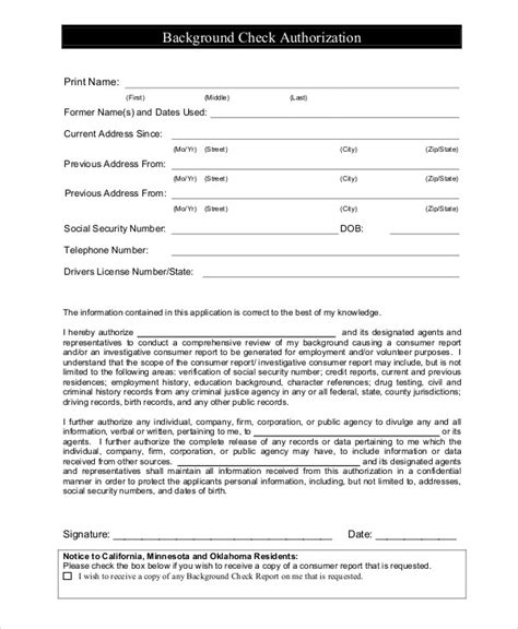 Criminal Record Check Application Application For Background Check Template Background Ideas
