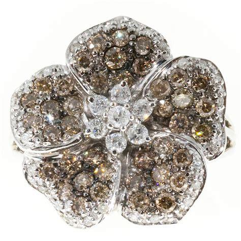 gold five petal flower ring at 1stdibs