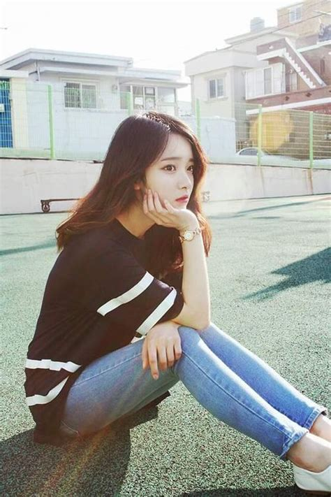 Slip On Heels Korea 806 black t shirt with white stripes and and slip on shoes ideas for school