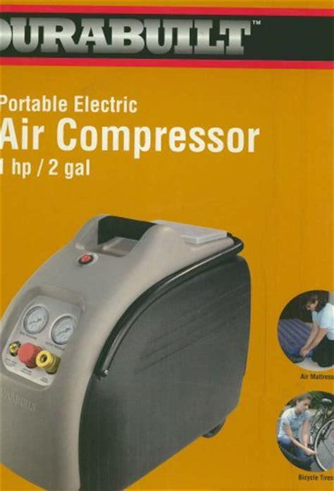 price durabuilt portable air compressor  hp gal