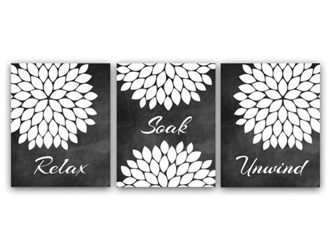 Black And White Bathroom Wall Decor by Bathroom Wall Relax Soak Unwind Instant