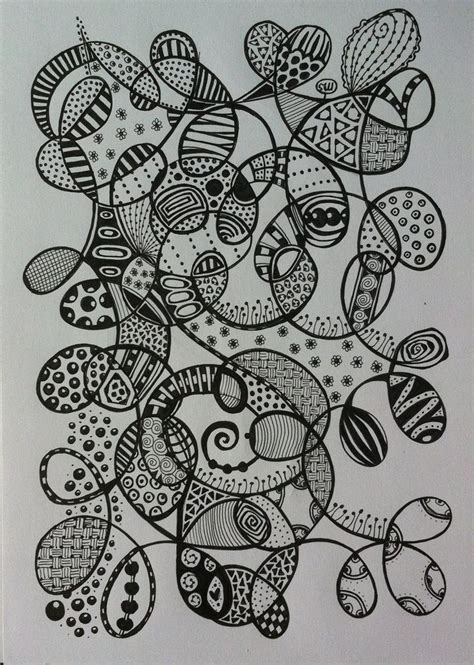 zentangle pattern growth 154 best zentangle and doodle images on pinterest