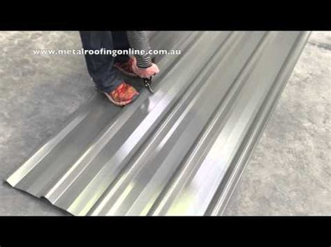 how to cutting a trimdek roof sheet metal roofing