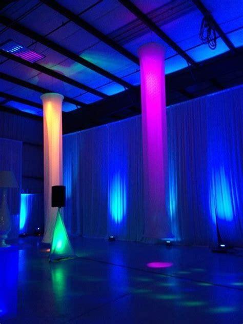 Swag Pipe And Drape Style Audio Visual Uplit Drape Lights Events