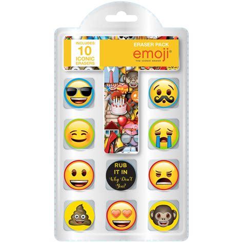 emoji erasers emoji eraser set 10 pack kids stationery b m