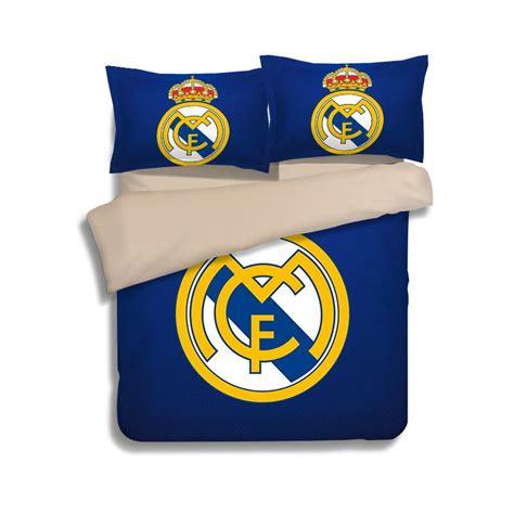 Real Madrid Bed Set League Soccer Real Madrid Logo Printed Bedding Set Ebeddingsets