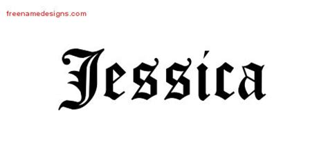 jessica name tattoo designs blackletter name designs graphic