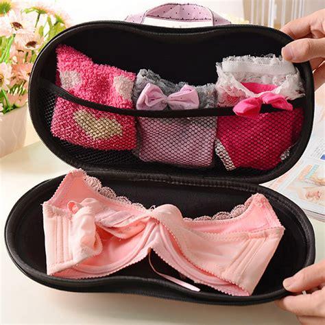 And Bra Ttravel Organizer Quality Ls79 storage bag box protect bra organizer container travel portable ebay