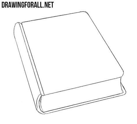 L Drawing Book by How To Draw A Closed Book Drawingforall Net