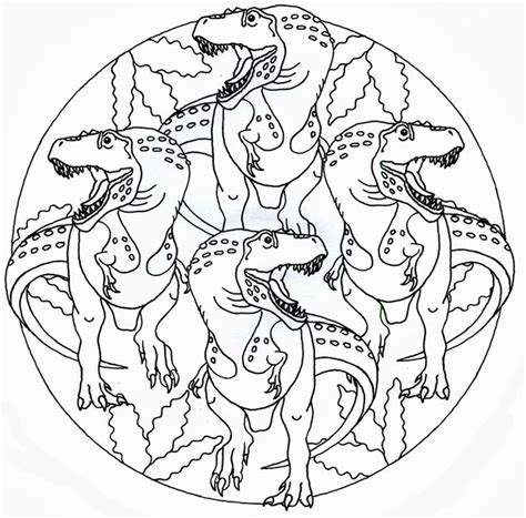 dinosaur mandala coloring pages photo mio pinterest ps and album