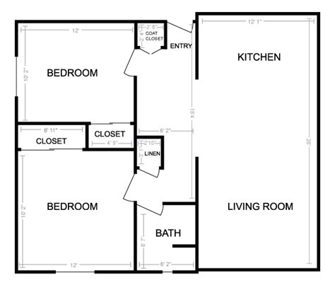 Floor Plans For Small 2 Bedroom Houses Two Bedroom Small House Plans Wallpaper Sportstle