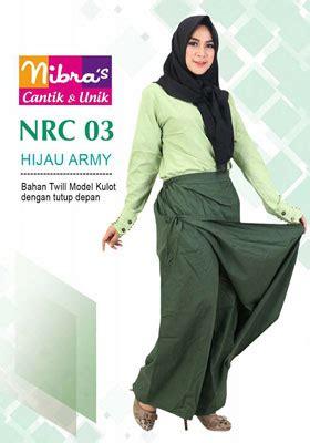Rok Celana Muslimah S M L Abu Tua rok celana muslimah nibras nrc 03 hijau army
