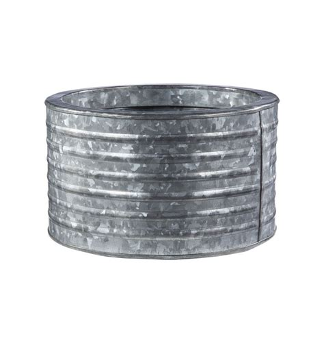 Round Galvanized Steel Planter Rejuvenation Our Deck Galvanized Steel Planters