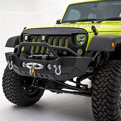 jeep rubicon winch bumper restyling factory 07 17 jeep wrangler jk rock crawler