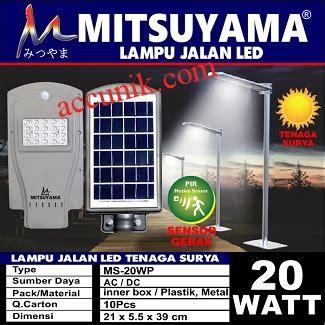 jual lu jalan pju tenaga matahari 20 watt murah meriah