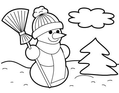 christmas coloring pages preschoolers