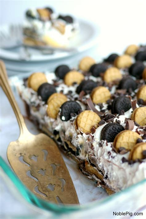 chocolate peanut butter icebox cake recipe dishmaps