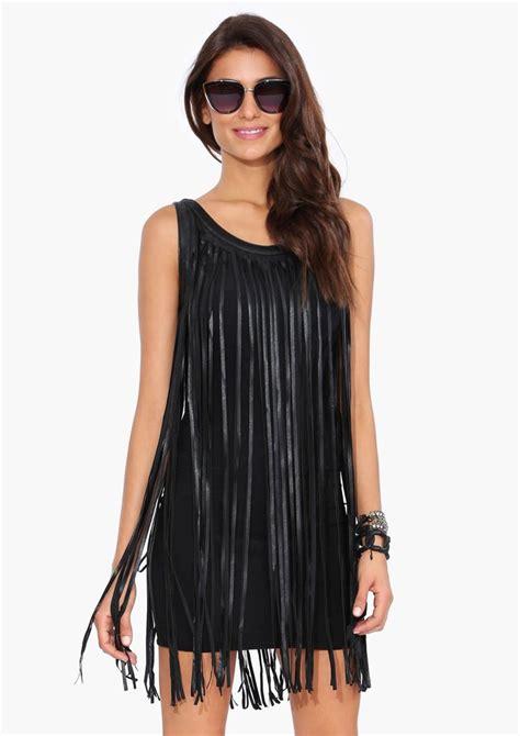 leather fringe dress  black fashion dresses
