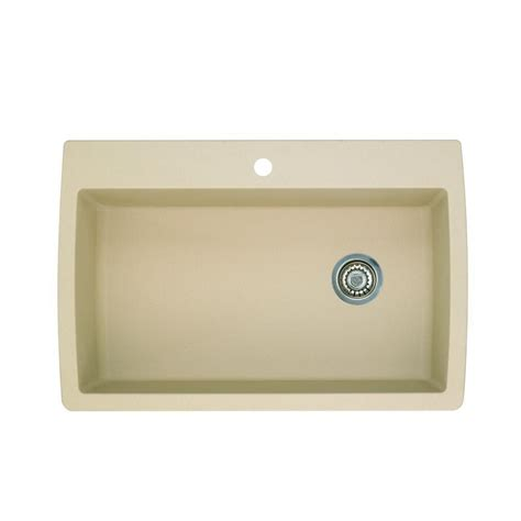 kitchen sink blanco blanco dual mount composite 33 in 1