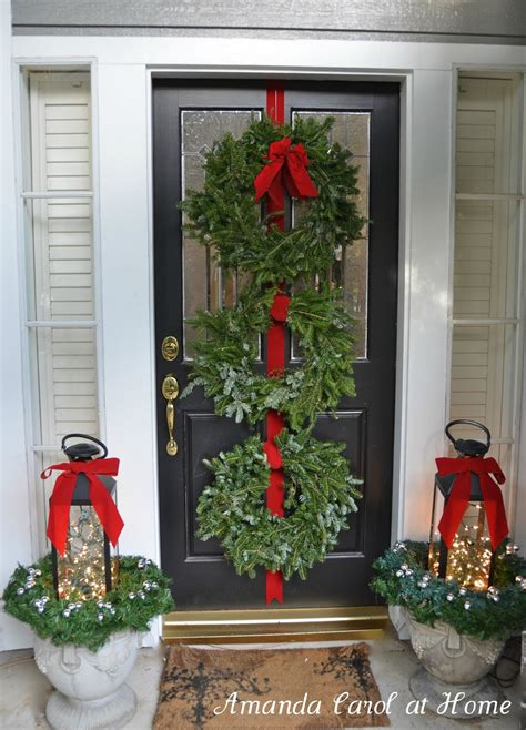 christmas front door decor amanda carol interiors