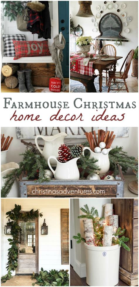home christmas decorations pinterest farmhouse christmas decorating ideas christinas adventures