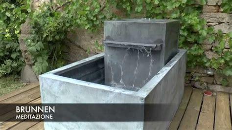 moderne gartenbrunnen moderner zink gartenbrunnen meditazione