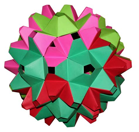 Rhombic Dodecahedron Origami - rhombic icosahedron dodecahedron origami constructions