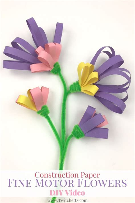Construction Paper Flower Crafts - best 25 construction paper flowers ideas on