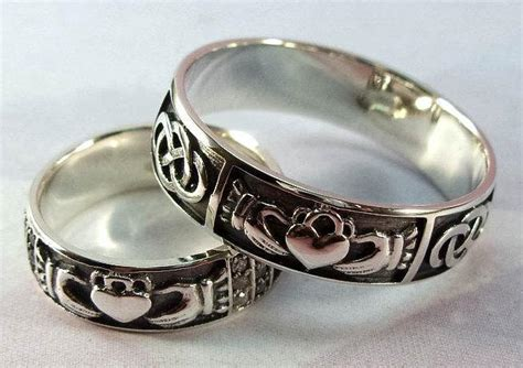 Unique Handmade Rings - wedding band set silver claddagh ring handmade