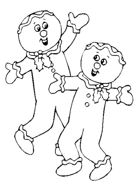 Gingerbread Coloring Pages Gingerbread Baby Coloring Pages