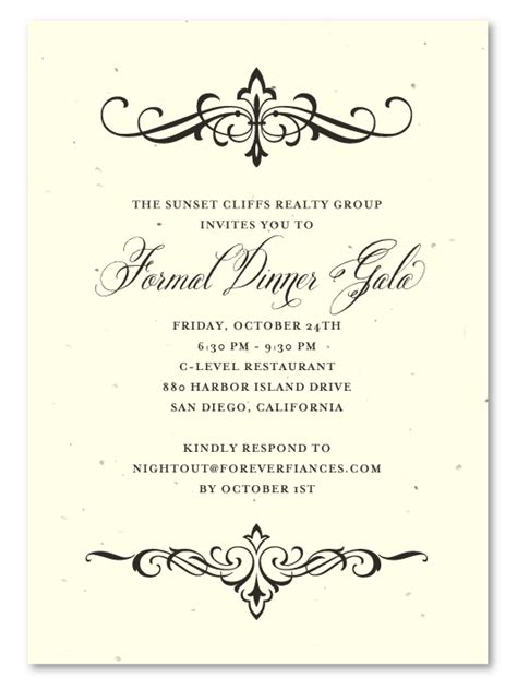 gala dinner invitation template free financial invitations on seeded paper