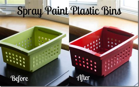spray painting plastic spray paint plastic bins i planners