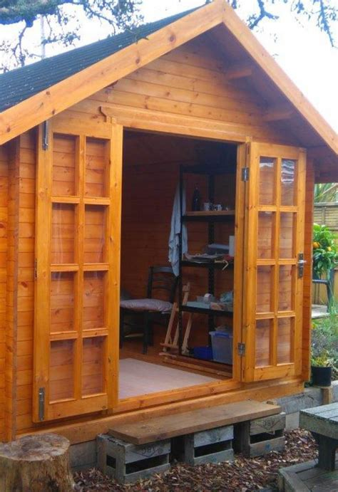 sheshed potting shed  great place  create  store pottery pieces