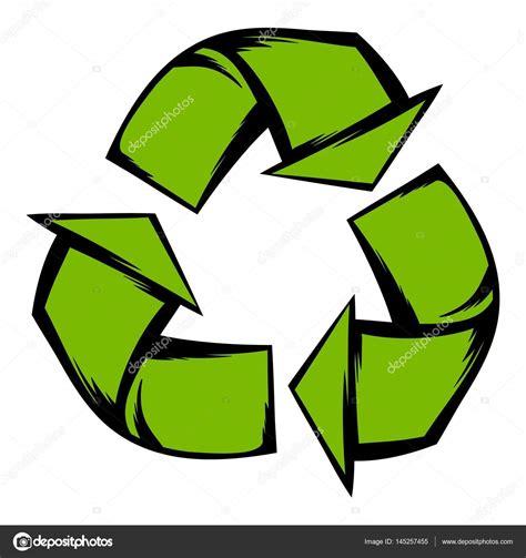 imagenes animadas reciclaje verde reciclaje s 237 mbolo icono de dibujos animados