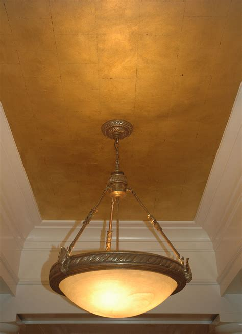 gold leaf ceiling twin diamonds studios decorative