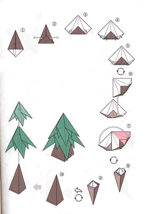 step by step christmas tree oragami wiki with pics origami tree