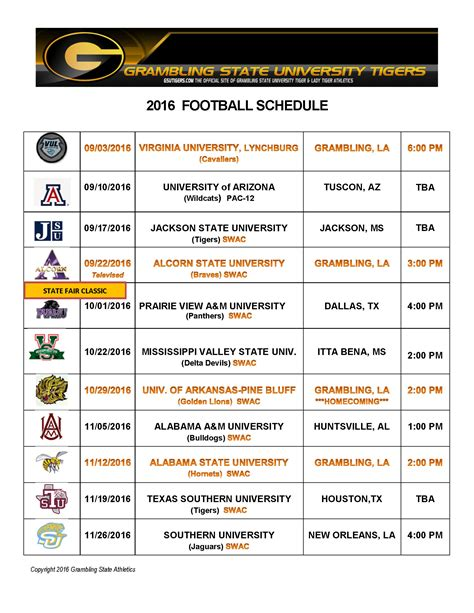 printable schedule for alabama football 2015 2015 football schedule alabama state athletics autos post