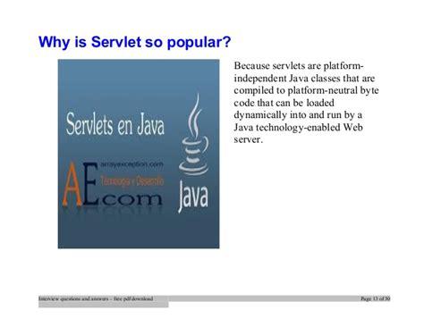 servlets interview questions tutorialspoint servlets and jsp interview questions and answers pdf