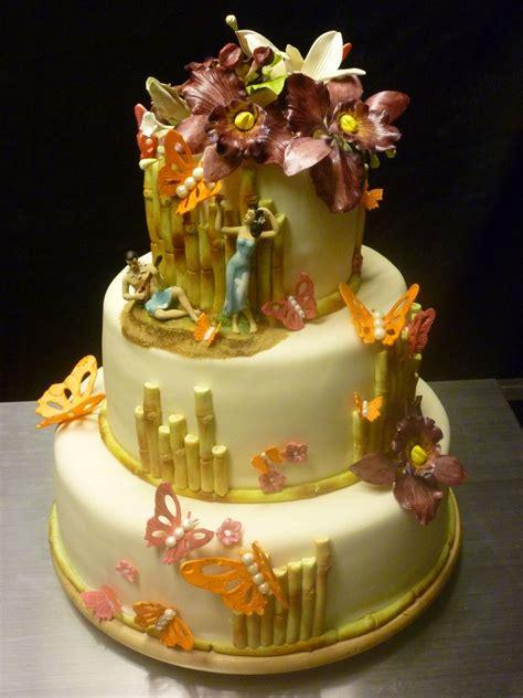 Wedding Cake Hawaii by Hawaiian Theme Wedding Cake Cakecentral