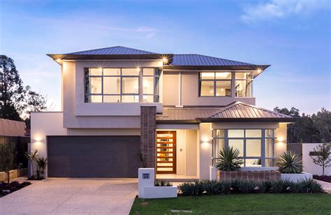 home group wa design the cascade compact two storey display home