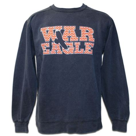 color comfort sweatshirts sweatshirt comfort color chevron war eagle auburn